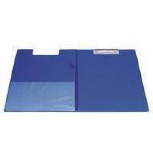 Q-Connect PVC Foldover Clipboard Foolscap/A4 Blue