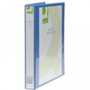 Q-Connect Presentation 4D-Ring Binder 25mm A4 Blue
