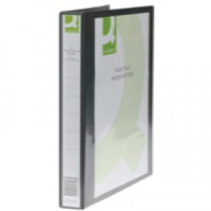 Q-Connect Presentation 4D-Ring Binder 25mm A4 Black