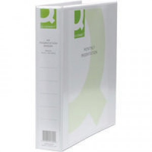 Q-Connect Presentation 4D-Ring Binder 40mm A4 White