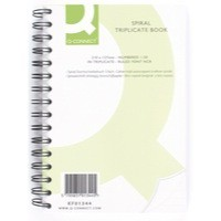Q-Connect Wiro Bound Carbonless Triplicate Book 8x5 inches