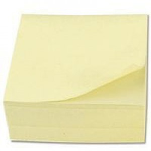 Q-Connect Quick Note Cube 75x75mm Yellow