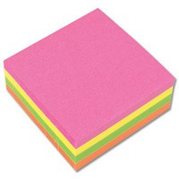 Image for Q-Connect Neon Quick Note Cube 76x76mm