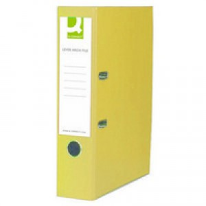 Q-Connect Lever Arch File Foolscap Paper-Backed Yellow KF01471