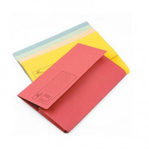 Q-Connect Document Wallet 285gsm Foolscap Assorted Pack of 50 KF01490