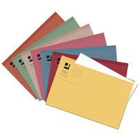 Q-Connect Square Cut Folder Light-weight 180gsm Foolscap Assorted Pack of 100