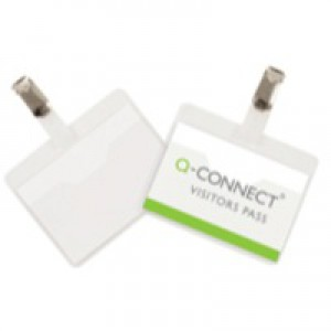 Q-Connect Visitor Badge 60x90mm Pk 25 KF01560