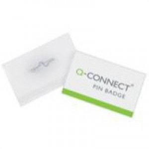 Q-Connect Pin Badge 40x75mm Pack of 100 KF01566