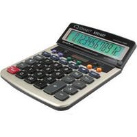 Q-Connect Dual Powered Desktop Calculator 12-digit Adjustable Display