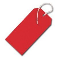 Q-Connect Strung Tag 120x60mm Red Pk 1000