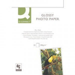 Q-Connect Photo Gloss Paper 100x150mm 180gsm Pack of 25 KF01905