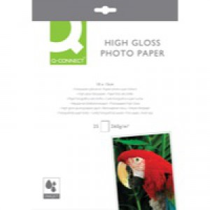 Q-Connect Photo Paper High Gloss 100x150mm 260gsm Pack of 25 KF01906