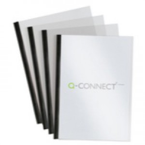 Q-Connect A4 5mm Slide Binder and Cover Set Black Pk 100 KF01940