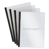 Q-Connect A4 5mm Slide Binder/Cover Set Black Pack of 100