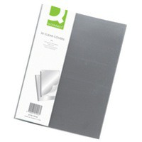 Q-Connect Clear Binding Folder Pack of 20