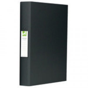 Q-Connect 2-Ring Binder A4 25mm Polypropylene Black