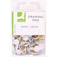 Q-Connect Drawing Pin Pack of 120 White Pack of 10