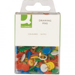 Q-Connect Drawing Pin Coloured Head Pack of 120 KF02020Q