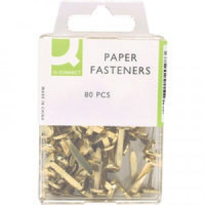 Q-Connect Paper Fastener 17mm Pack of 80 KF02028Q