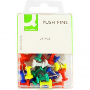 Q-Connect Push Pin Pack of 25 KF02029Q