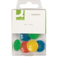 Q-Connect Magnet 24mm Assorted Pk 6