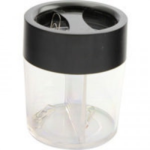 Q-Connect Paperclip Dispenser Black/Clear