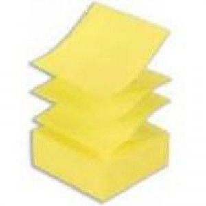 Q-Connect Fanfold Quick Note 75x75mm Yellow