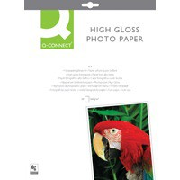 Q-Connect Photo Paper High Gloss A4 260gsm White Pack of 20