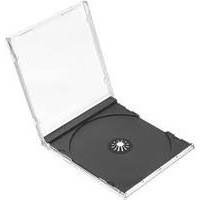 Q-Connect CD Jewel Case Black/Clear Pack of 10