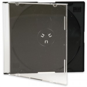 Q-Connect CD Jewel Case Slim Black Pack of 25 KF02210