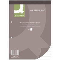 Q-Connect Refill Pad A4 Ruled Feint Punched 2-Hole Head Bound 80 Leaf