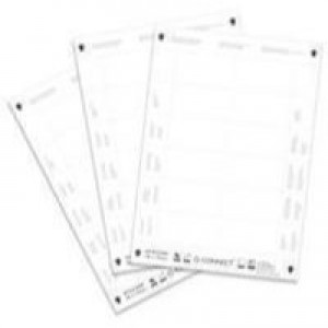 Q-Connect Name Badge Inserts 54x90mm 25 Sheets x 10 Inserts KF02289