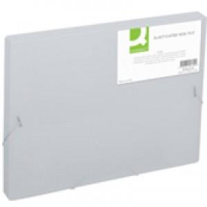 Q-Connect Elasticated Box File Clear KF02310