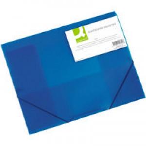 Q-Connect Elasticated Folio A4 Blue KF02312