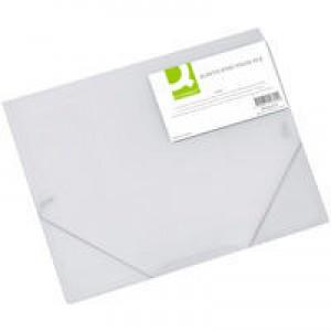 Q-Connect Elasticated Folio A4 Clear KF02315