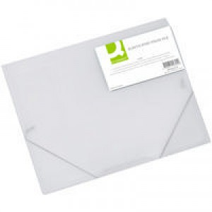Q-Connect Elasticated Folio A4 Clear