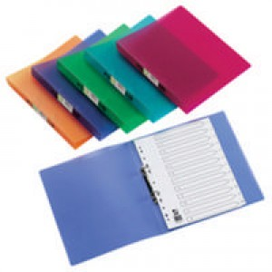 Q-Connect 2-Ring Binder A4 Frosted Assorted Pk 12 KF02488