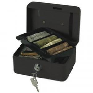 Q-Connect Cash Box 6 inch Black