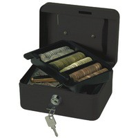 Q-Connect Cash Box 6 inch Black