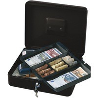 Q-Connect Cash Box 12 inch Black
