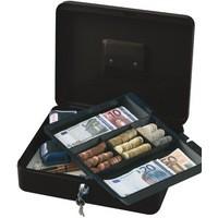 Q-Connect Cash Box 12 inch Black