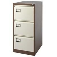 Jemini 3-Drawer Filing Cabinet Coffee/Cream