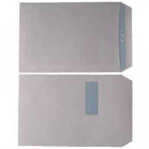 Q-Connect Envelope C4 100gsm Window Peel and Seal White Pack of 250 1P41