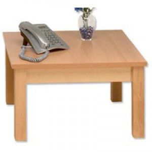 Arista Square Reception Table 600mm Beech