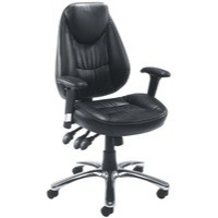 Avior Leather Operators Chair Black