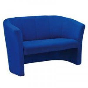 Arista Tub Fabric Chair 2 Seat Blue KF03524