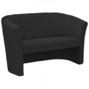 Arista Tub Fabric Chair 2 Seat Charcoal KF03525