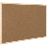 Q-Connect Cork Board Wooden Frame 400x600mm