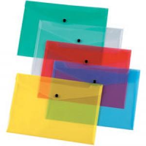 Q-Connect Document Folder Polypropylene A4 Assorted (Pk 12) KF03599