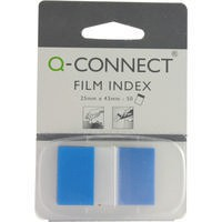 Q-Connect Page Marker 1 inch Pack of 50 Blue